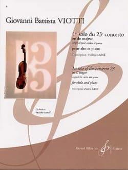 1er solo du Concerto n° 23 en do majeur VIOTTI Partition laflutedepan