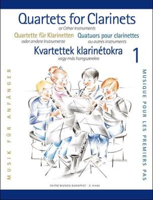 Clarinet Quartets For Beginners Partition Clarinette - laflutedepan