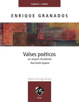 Valses Poéticos - 2 Guitares GRANADOS Partition Guitare - laflutedepan