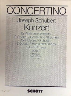 Konzert D-Dur für Flöte op. 1 -Partitur - laflutedepan.com
