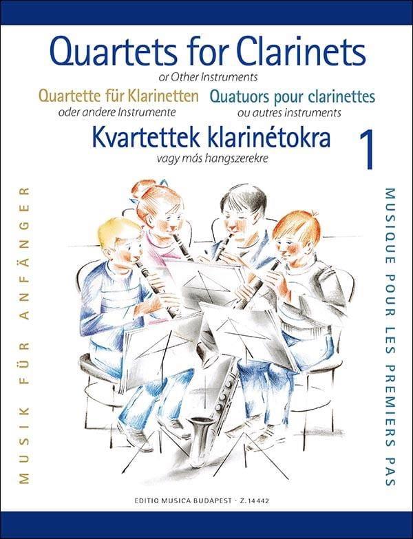 Clarinet Quartets For Beginners - Partition - laflutedepan.com