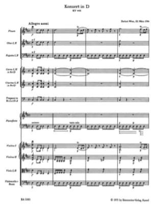 Concerto KV 451 - Conducteur - MOZART - Partition - laflutedepan.com