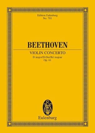 Violin-Konzert D-Dur, op. 61 D-Dur BEETHOVEN Partition laflutedepan
