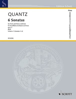 6 Sonatas op. 1 - Bd. 1 - Flöte und Bc QUANTZ Partition laflutedepan