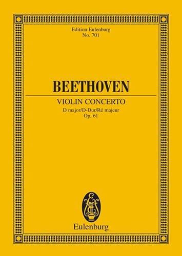 Violin-Konzert D-Dur, op. 61 D-Dur - BEETHOVEN - laflutedepan.com