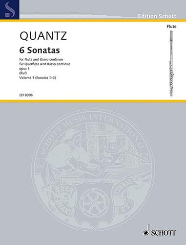 6 Sonatas op. 1 - Bd. 1 - Flöte und Bc - QUANTZ - laflutedepan.com