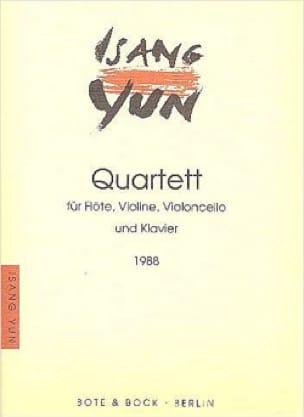 Quatuor 1988 - Isang Yun - Partition - Quatuors - laflutedepan.com