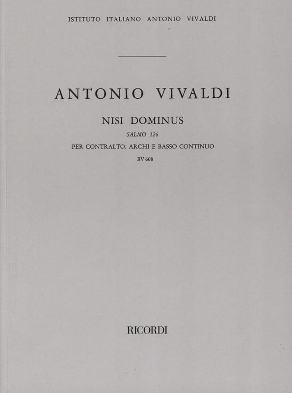 Nisi Dominus Salmo 126 RV 608 - Partitur - VIVALDI - laflutedepan.com