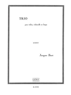 Trio violon, cello, harpe IBERT Partition Trios - laflutedepan