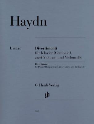 Divertimenti pour piano clavecin avec deux violons HAYDN laflutedepan