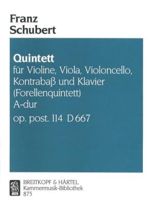 SCHUBERT - Quintett Forellen A-hard op. post. 114 D 667 - Stimmen - Partition - di-arezzo.co.uk