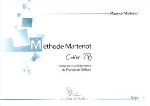 Méthode Martenot - cahier 2B Maurice Martenot Partition laflutedepan