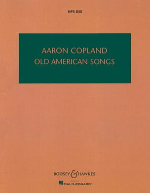 Old American Songs - Partitur COPLAND Partition laflutedepan