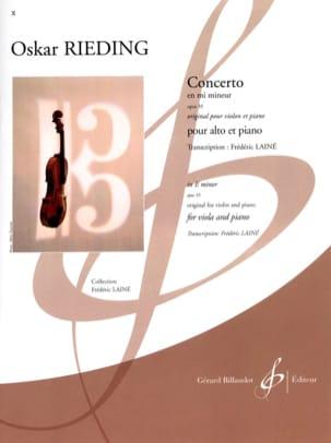 Concerto op. 35 en mi mineur Oskar Rieding Partition laflutedepan