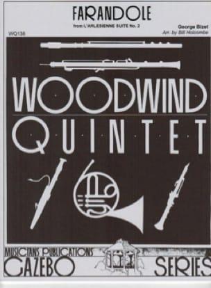Farandole -Woodwind quintet - BIZET - Partition - laflutedepan.com