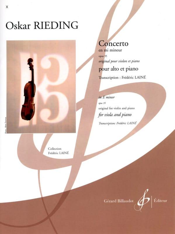 Concerto op. 35 en mi mineur - Oskar Rieding - laflutedepan.com
