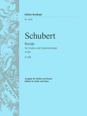 SCHUBERT - Rondo A-Dur D 438 - Violine Klavier - Partition - di-arezzo.co.uk
