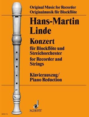 Konzert für Blockflöte Hans-Martin Linde Partition laflutedepan