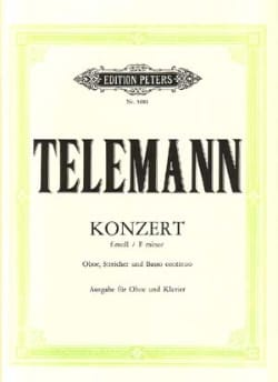 Konzert f-moll TWV 51 : f1 -Oboe Klavier TELEMANN laflutedepan
