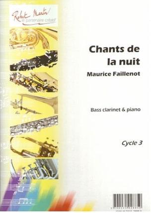 Chants de la nuit Maurice Faillenot Partition laflutedepan