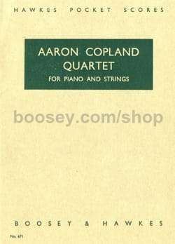Quartet for piano and strings - Score - COPLAND - laflutedepan.com