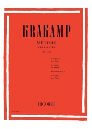 Metodo per fagotto Emanuele Krakamp Partition Basson - laflutedepan