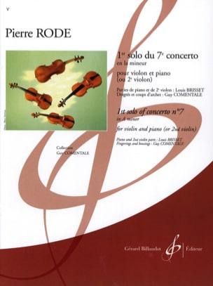 1er Solo du Concerto n° 7 en la mineur Pierre Rode laflutedepan