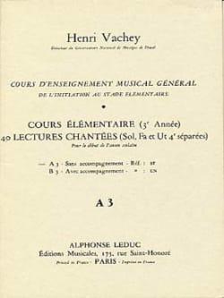 40 Lectures chantées - A3 3 clés élém. S/A Henri Vachey laflutedepan