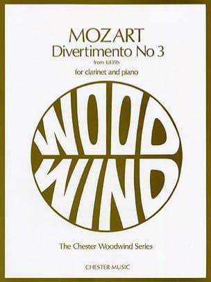 MOZART - Divertimento n ° 3 KV 439b - Clarinet and piano - Partition - di-arezzo.co.uk