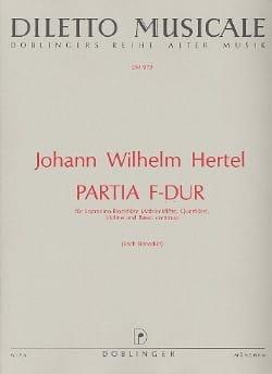 Partia F-Dur - Sopranino-Blockfl. Violine Bc - laflutedepan.com