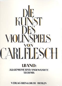 Die Kunst des Violinspiels - Bd. 1 Carl Flesch Partition laflutedepan