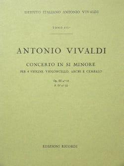 Concerto en si min. - F. 4 n° 10 - Partitura VIVALDI laflutedepan