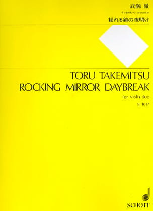 Rocking Mirror Daybreak TAKEMITSU Partition Violon - laflutedepan