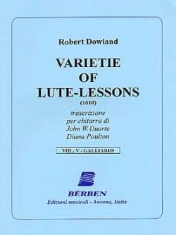 Varietie of Lute Lessons 1610 - Volume 5 Robert Dowland laflutedepan