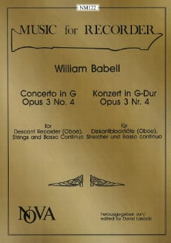 Concerto In G, Op. 3 N°4 - Score, Parts And Reduction - laflutedepan.com