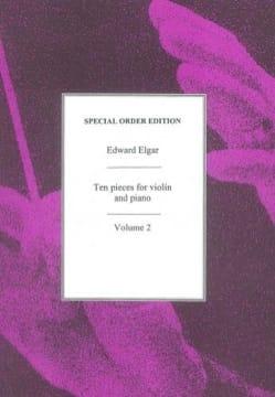 10 pieces for Violin and Piano - Volume 2 ELGAR Partition laflutedepan