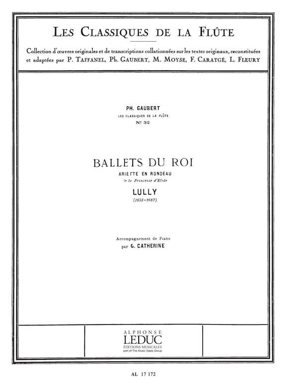 Ballets du Roi Ariette en Rondeau - Flûte piano - laflutedepan.com
