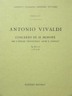 Concerto en si min. - F. 4 n° 10 - Partitura - laflutedepan.com