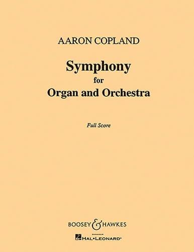 Symphony for organ and orch. - Score - COPLAND - laflutedepan.com