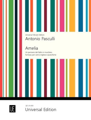Amelia - Cor Anglais et Piano Antonino Pasculli Partition laflutedepan