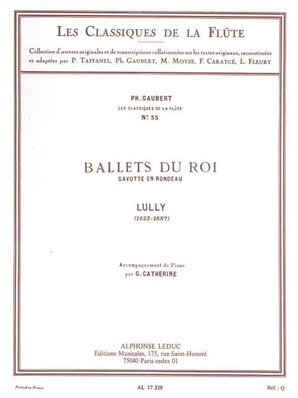Ballets du Roi Gavotte en Rondeau - Flûte piano - laflutedepan.com