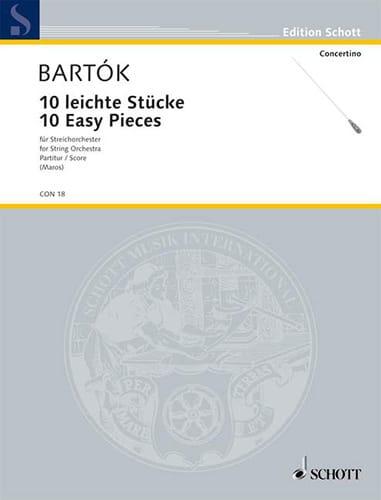 10 Leichte Stücke - Streichorchester - BARTOK - laflutedepan.com