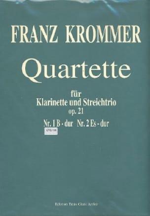 Quartette Op. 21 N° 1 en Sib Maj. - KROMMER - laflutedepan.com