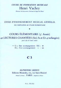 40 Lectures chantées - C3 3 clés élém. S/A Henri Vachey laflutedepan