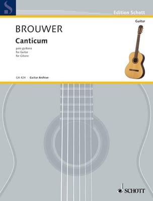 Canticum BROUWER Partition Guitare - laflutedepan