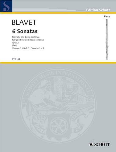 6 Sonates Opus 2 - Volume 1 - Michel Blavet - laflutedepan.com