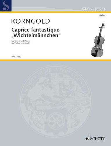 Caprice Fantastique - KORNGOLD - Partition - Violon - laflutedepan.com