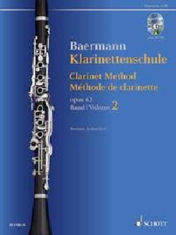 Méthode de Clarinette, opus 63 Vol. 2 2 CDs inclus - laflutedepan.com