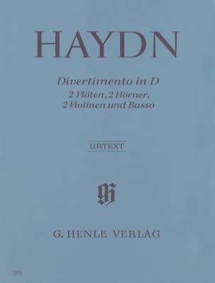 Divertimento in D-Dur - 2 Flöten 2 Hörner 2 Violinen Basso - Partitur + Stimmen laflutedepan
