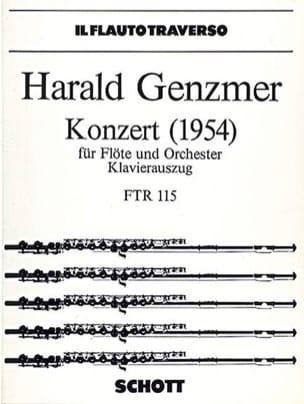 Konzert 1954 - Flöte Klavier Harald Genzmer Partition laflutedepan